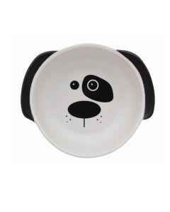 Hunde madskål, med hunde hoved