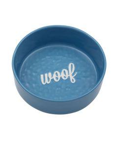 Woof madskål til hund i friske farver-Blå