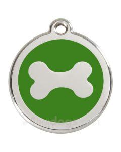Hundetegn Kødben medium-Grøn