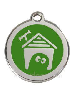 Hundehus medium-Grøn