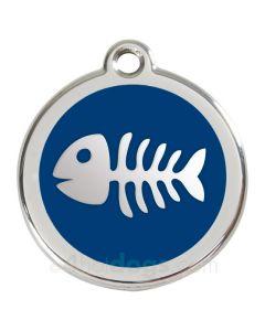 Kattetegn med fiskeben-Blå