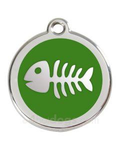 Kattetegn med fiskeben-Grøn