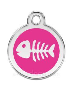 Kattetegn med fiskeben-Hot pink