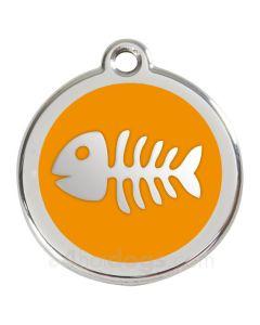 Kattetegn med fiskeben-Orange