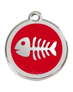 Kattetegn med fiskeben-Rød