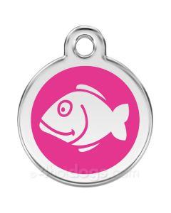 Kattetegn med fisk-Hot pink