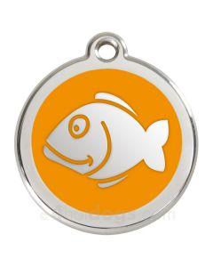 Kattetegn med fisk-Orange