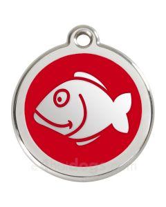 Kattetegn med fisk-Rød