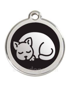Kattetegn med kat-Sort