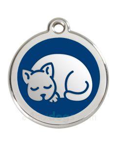 Kattetegn med kat-Blå