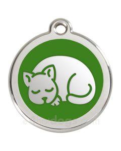 Kattetegn med kat-Grøn