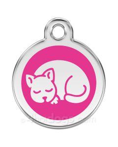 Kattetegn med kat-Hot pink