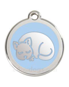Kattetegn med kat-Lyseblå