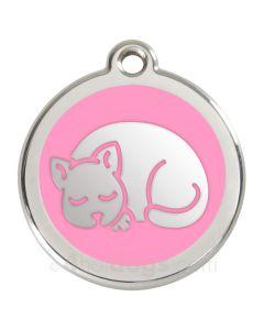 Kattetegn med kat-Lyserød