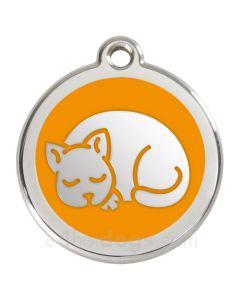 Kattetegn med kat-Orange
