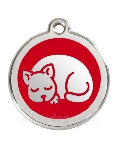 Kattetegn med kat-Rød