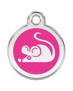 Kattetegn med mus-Hot pink