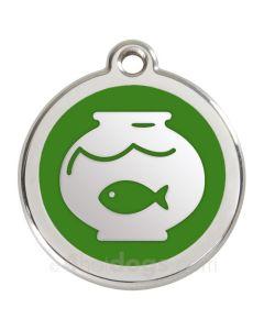 Kattetegn med fiskebowle-Grøn