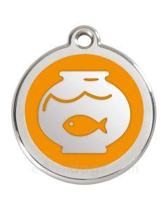 Kattetegn med fiskebowle-Orange