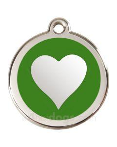 Kattetegn med hjerte-Grøn