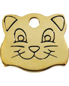 Kattetegn med kattesmil-Messing