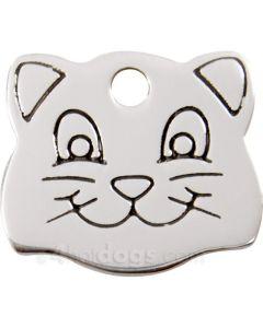 Kattetegn med kattesmil-Rustfrit stål