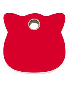 Kattetegn med kattehoved-Rød
