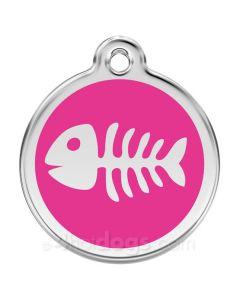 Fiskeben medium-Hot pink