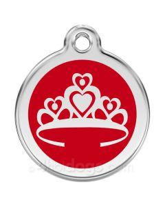 Prinsessekrone medium-Rød