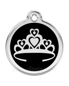 Prinsessekrone medium-Sort