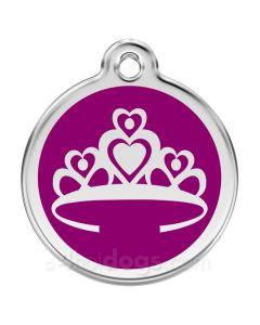 Prinsessekrone medium-Lilla