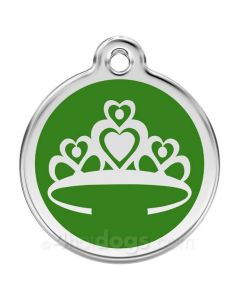 Prinsessekrone medium-Grøn