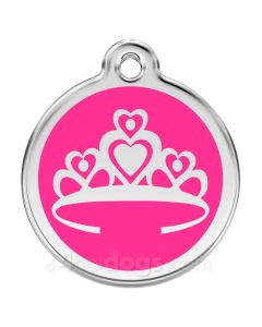 Prinsessekrone small-Hot pink