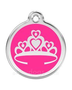 Prinsessekrone medium-Hot pink