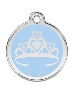 Prinsessekrone medium-Lyseblå