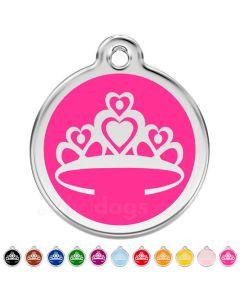 Hundetegn Prinsessekrone medium 11 forskellige farver