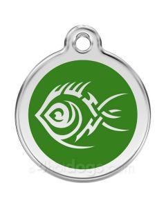 Tribal Fisk medium-Grøn