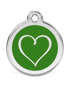 Tribal Hjerte medium-Grøn