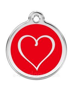 Tribal Hjerte medium-Rød