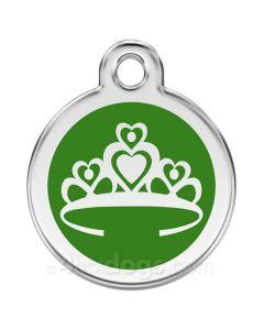 Kattetegn med Prinsessekrone-Grøn