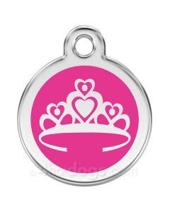 Kattetegn med Prinsessekrone-Hot pink