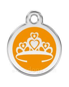 Kattetegn med Prinsessekrone-Orange