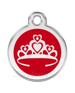 Kattetegn med Prinsessekrone-Rød
