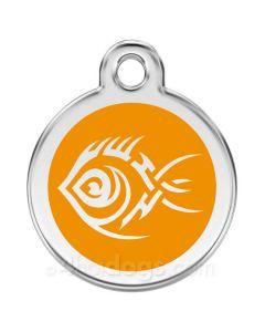Kattetegn med Tribal Fisk-Orange