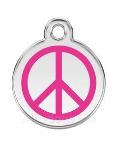 Kattetegn med peacetegn-Hot pink