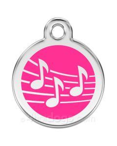 Kattetegn med Musik-Hot pink