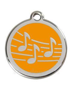 Kattetegn med Musik-Orange