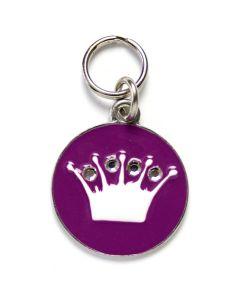 Kongeligt hundetegn med krystaller-Lavendel-M