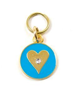 blåt hundetegn - hjerte
