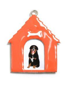 Vinduespynt -hundehus i farver -Abrikos